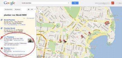 bondi-plumber-Google-Maps
