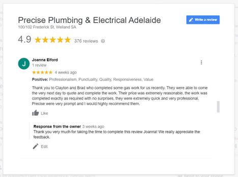 Screenshot of Positive Review