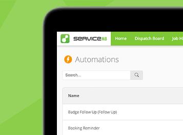 Screenshot of ServiceM8