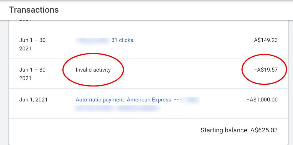 Click Fraud Invalid Activity