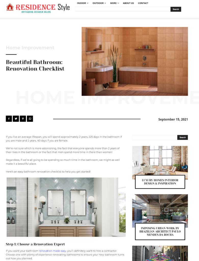 Interior Design Blog Site - Residence Style